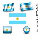 argentina flag icon set | Shutterstock . vector #517067626