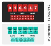 countdown clock digits board... | Shutterstock .eps vector #517067962