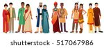 people in national traditional... | Shutterstock .eps vector #517067986