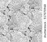tracery seamless calming... | Shutterstock .eps vector #517070968