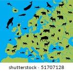 animal of europe | Shutterstock .eps vector #51707128