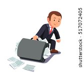 businessman dragging huge heavy ...   Shutterstock .eps vector #517072405