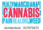 cannabis word cloud on a white... | Shutterstock .eps vector #517072672