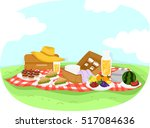 colorful illustration featuring ... | Shutterstock .eps vector #517084636