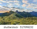 Small photo of Panoramic View of Daba Peaks and Holy Ridge at Sunrise, Yizhe Mountain, Shei-Pa National Park, Taiwan