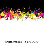 abstract ink splashes background