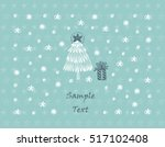 merry christmas or happy new... | Shutterstock .eps vector #517102408