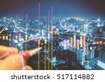 commodity digital data... | Shutterstock . vector #517114882