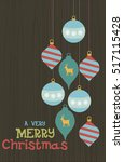 holiday greeting card with... | Shutterstock .eps vector #517115428
