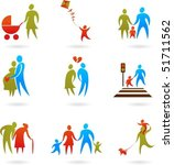 collection of family icons | Shutterstock .eps vector #51711562