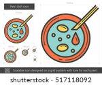 petri dish vector line icon... | Shutterstock .eps vector #517118092
