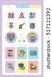 icon set traffic vector | Shutterstock .eps vector #517121392