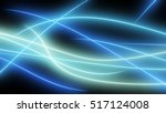 sparkling graphic lines. 3d... | Shutterstock . vector #517124008