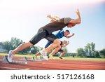 runners preparing for race at...   Shutterstock . vector #517126168