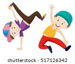 two boys doing breakdance...
