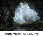 3d illustration of part of a... | Shutterstock . vector #517127296