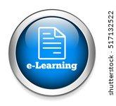 e learning button | Shutterstock .eps vector #517132522