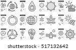 ecology vector line icon set... | Shutterstock .eps vector #517132642