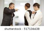 arguing  conflict  business... | Shutterstock . vector #517136638