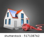 3d illustration of modern house ... | Shutterstock . vector #517138762