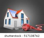3d illustration of modern house ... | Shutterstock . vector #517138762