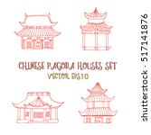 hand drawn set with detached... | Shutterstock .eps vector #517141876