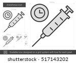 anesthesia vector line icon...   Shutterstock .eps vector #517143202