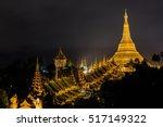 Shwedagon Pagoda At Night ...
