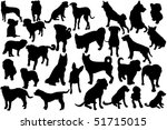 cute dogs silhouette set | Shutterstock .eps vector #51715015