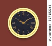 old antique wall clock  eps10 | Shutterstock .eps vector #517153366