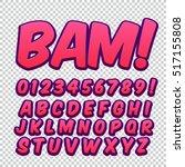 Comic Alphabet Set. Letters ...
