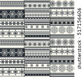 set of scandinavian flat style... | Shutterstock .eps vector #517156606