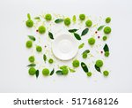 plate with pattern with petals... | Shutterstock . vector #517168126