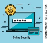 online security flat icons | Shutterstock .eps vector #517169755