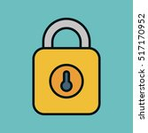 safe secure padlock isolated...   Shutterstock .eps vector #517170952