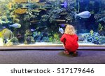 Little Girl Watching Fishes In...