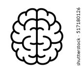 brain  mind or intelligence... | Shutterstock .eps vector #517180126