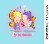 valentine's day. love ... | Shutterstock .eps vector #517181122