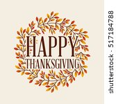 Happy Thanksgiving Card With...