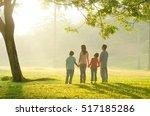 asian family walking outdoor in ... | Shutterstock . vector #517185286