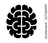 brain  mind or intelligence... | Shutterstock .eps vector #517186495