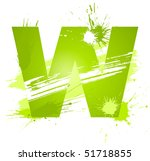 green abstract paint splashes... | Shutterstock .eps vector #51718855