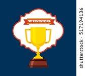 winner gold trophy icon over... | Shutterstock .eps vector #517194136