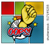 hand fist with oops word inside ... | Shutterstock .eps vector #517195255