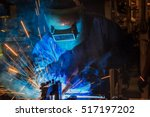 industrial worker at assembly...   Shutterstock . vector #517197202