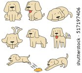 vector set of dog  labrador... | Shutterstock .eps vector #517197406