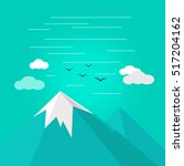 vector illustration of mountain ... | Shutterstock .eps vector #517204162