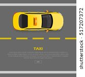 taxi on road web banner. flat... | Shutterstock .eps vector #517207372