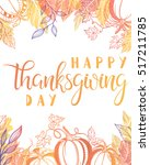 thanksgiving typography.happy... | Shutterstock .eps vector #517211785