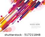 vector of modern abstract... | Shutterstock .eps vector #517211848